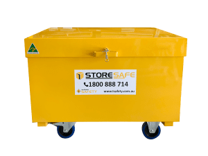 1200mm store safe site box yellow